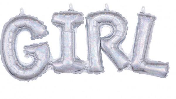Holografischer Girl Folienballon 55 x 25cm