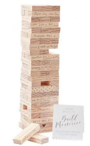 Building block tower guest book Build Memories
