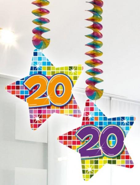2 Groovy 20th Birthday Spiralhänger 75cm