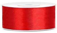 25m Satin Geschenkband rot 25mm breit