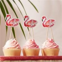 8 Fabulous Flamingo Muffinspieße 12,5cm