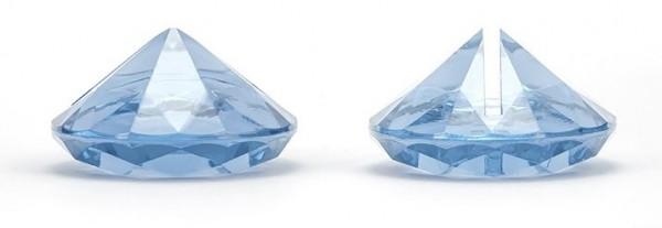 10 Diamanten Kartenhalter azurblau 4cm