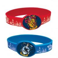 4 Harry Potter Hogwarts Gummiarmbänder