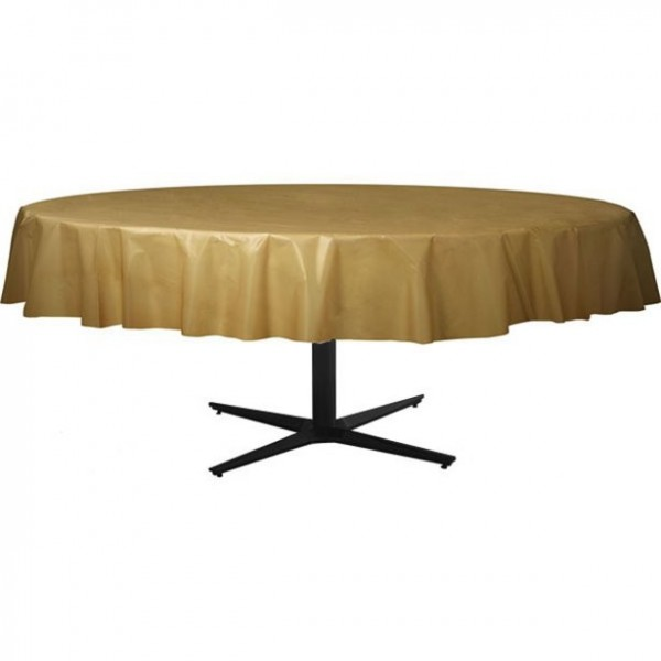 Golden plastic tablecloth around 2.1m
