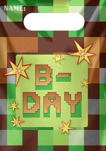 8 sacs cadeaux TNT Pixel Party