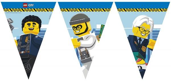 Cadena de banderines de papel Lego City 2,3 m