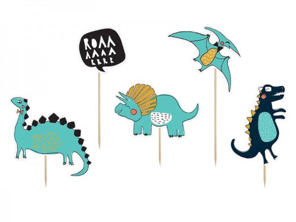 Dino Island Tortendeko 5-teilig