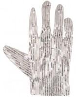 Silberne Superstar Pailletten Handschuhe