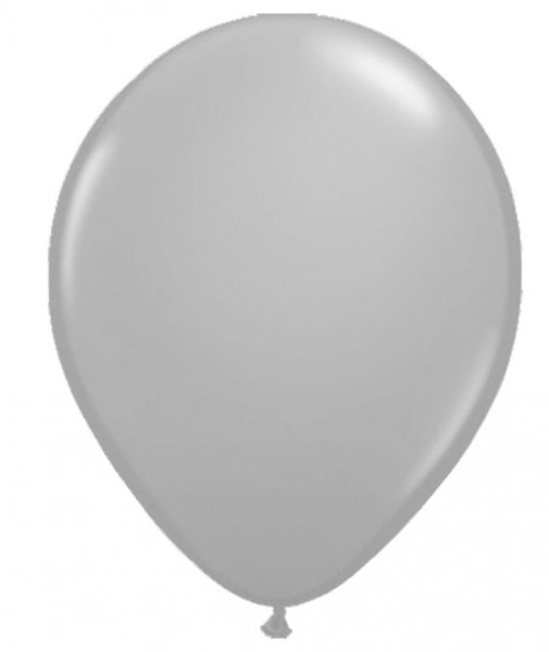 5 LED balloons in silver 28cm
