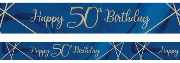 Luxurious 50th Birthday Banner 2.74m