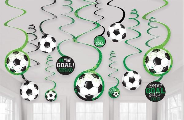 12 Fußball Game Time Spiralhänger