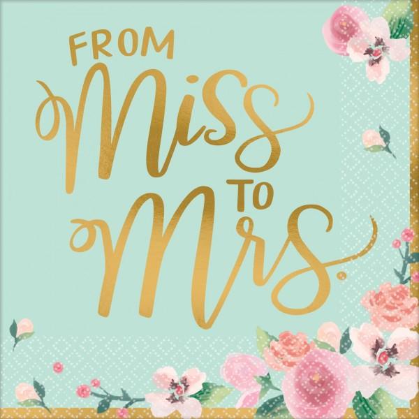 16 Miss to Mrs Servietten 33cm