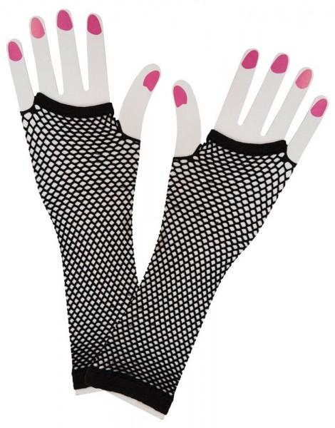 Czarne rękawiczki siatkowe Nora