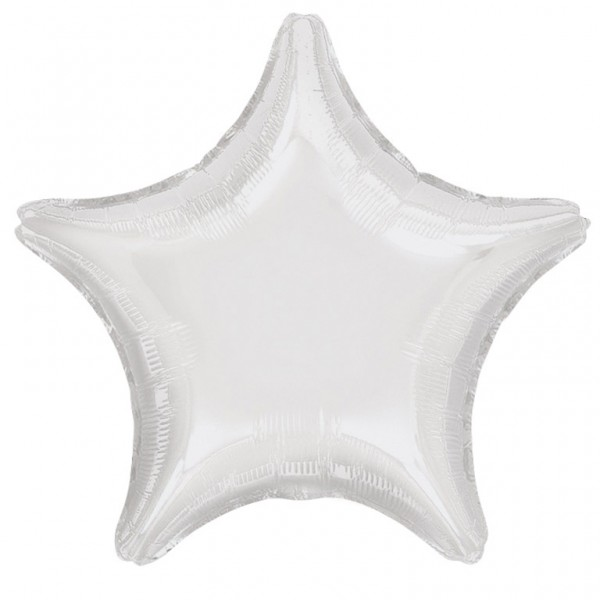 Sparkling Star balloon white