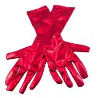 Handschuhe Luxuriöser Glanz rot