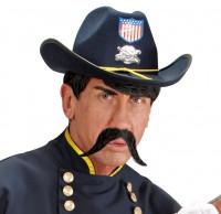 Moustache déformable noire