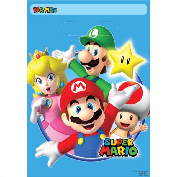 8 torebek na prezenty Super Mario