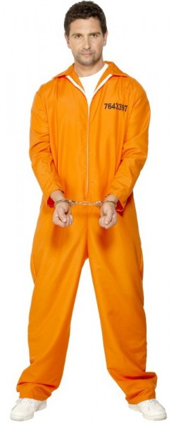 Halloween costume convict prison orange