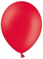 100 Partystar Luftballons rot 27cm