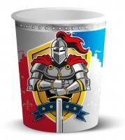 8 Becher Ritter Wappen 250ml
