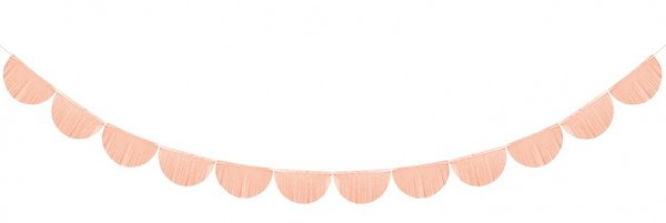 Fringe garland Alessia peach 3m x 20cm