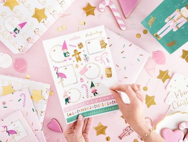 10 Bögen Weihnachtssticker süßer Kobold