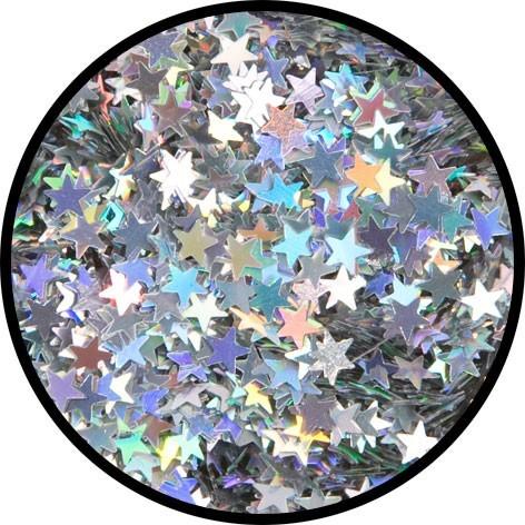 Holographischer Sterne Streuglitzer In Silber