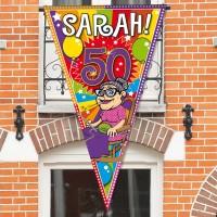 Sarah Party Wimpel 1 x 1,5m