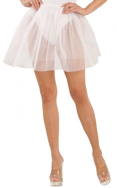 Schlichter Unterrock für Damen weiß