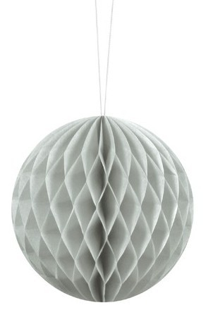 Honeycomb ball Lumina light gray 10cm