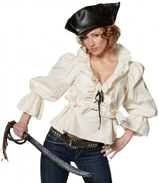 Blouse Pirate Bride Jessy Beige
