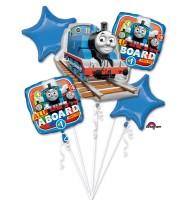 5 Folienballons Thomas, die kleine Lokomotive