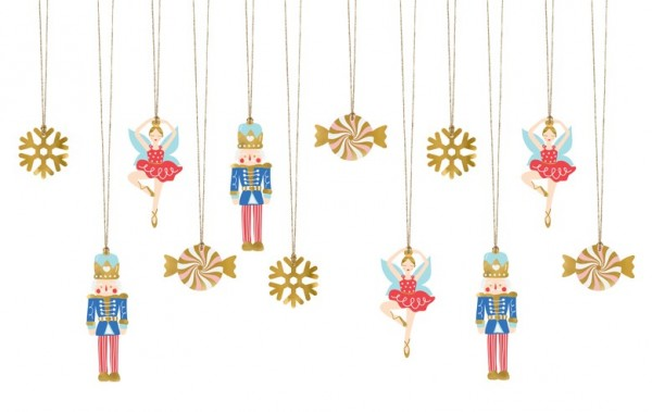 12 notenkraker sprookjes hangers