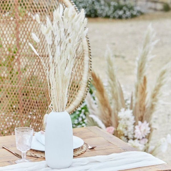 20 Country Wedding fluweel grassen crème 65cm