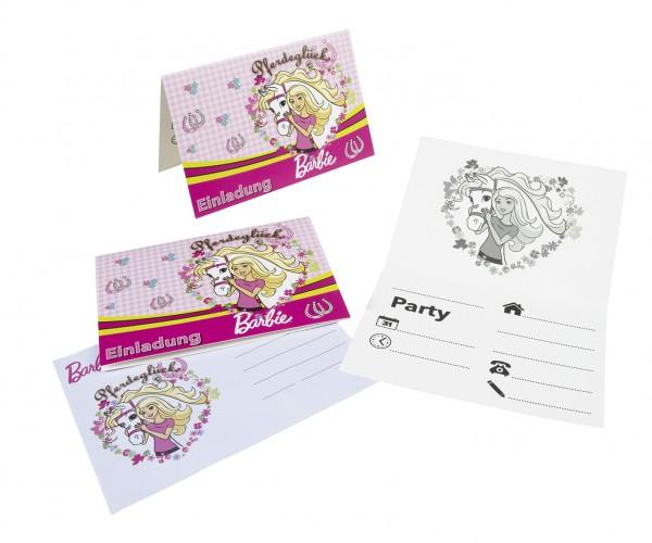 Barbie Einladungskarten Kindergeburtstag Mit A6 Umschlägen