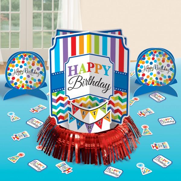 Rainbow Birthday Tischdeko Set 23-teilig