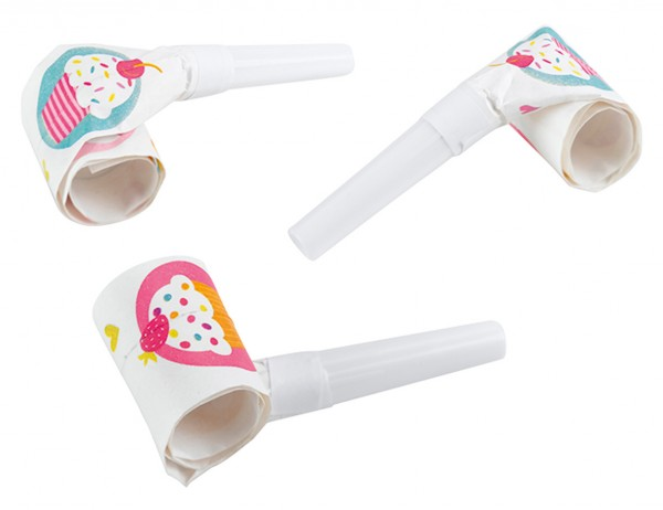 6 cupcake party air pipes 30cm