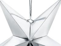 Do it yourself Dekostern aus metallisch-silberner Pappe 45cm