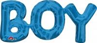 Folienballon Schriftzug Boy blau 50x22 cm