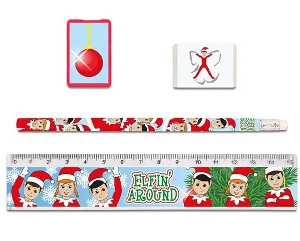 Weihnachtselfen Schreibset 4-teilig