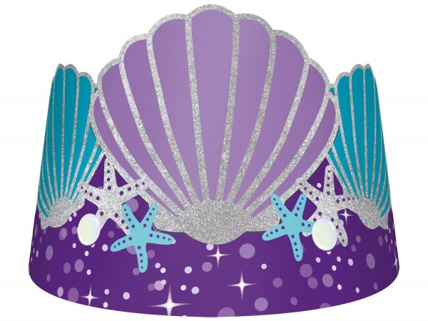 8 shellebrate mermaid crowns