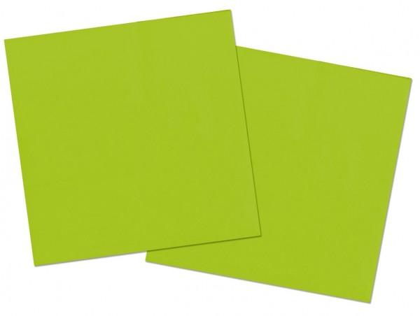 20 Servietten Cleo grün 33 x 33cm
