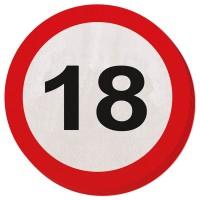20 Verkehrsschild 18 Servietten 15cm