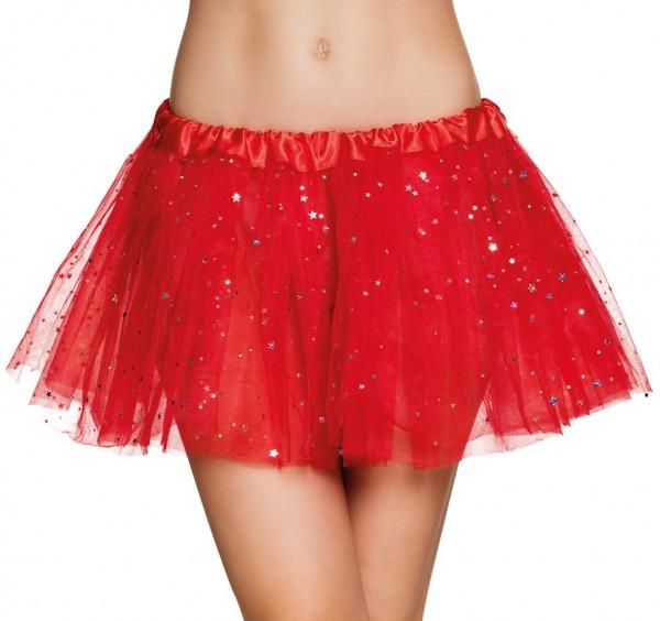 Zauberhaftes Sternchen Tutu Rot Für Damen