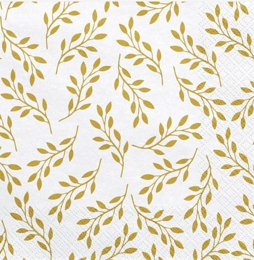 20 golden twig napkins 33cm