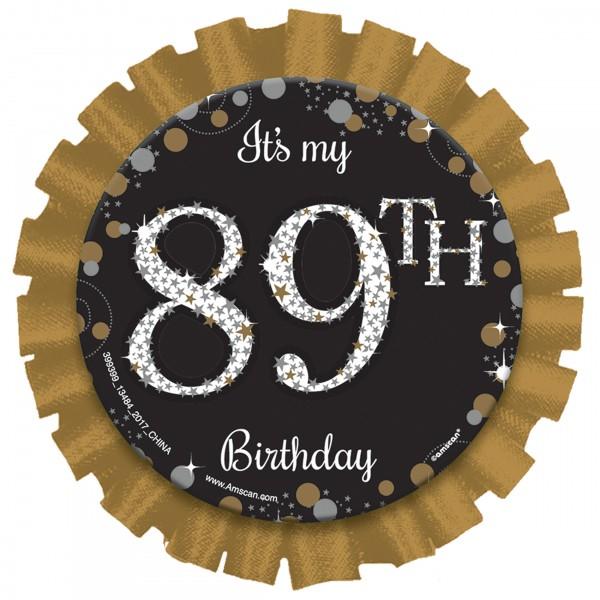 Botón de cumpleaños edad de oro de 7,6 cm