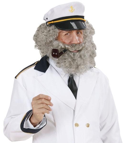 Alter Seemann Perücke Und Bart Set Für Herren
