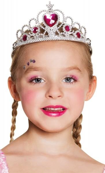 Couronne de princesse pour enfants en argent