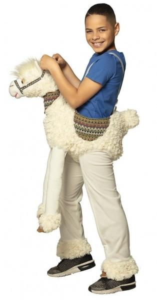 Lama Parade piggyback kostuum voor een kind