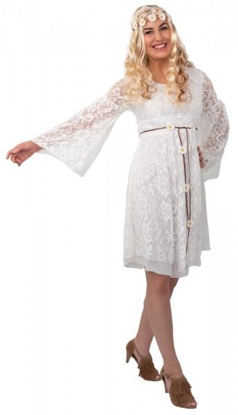 Vestido juna de encaje blanco